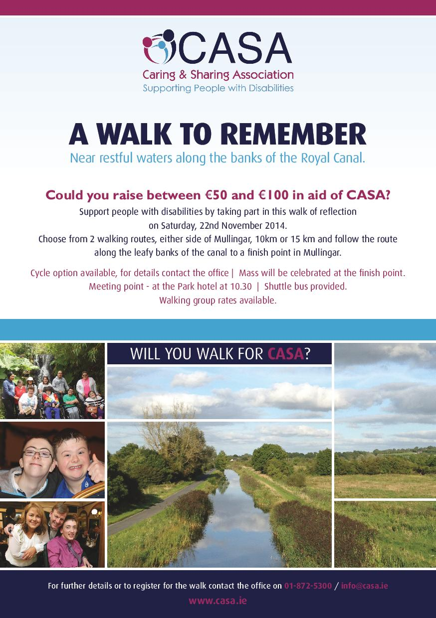 A Walk to Remember fundraiser 2014