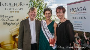 Photo of Paddy Murray CEO CASA, Maria Walsh Rose of Tralee winner 2014, Eílis O'Neil Group-leader CASA Loughrea